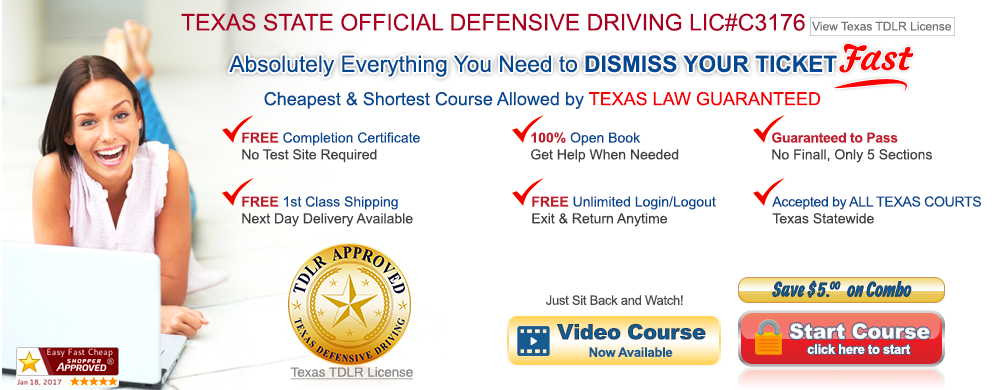 Texas approved defensive driving online